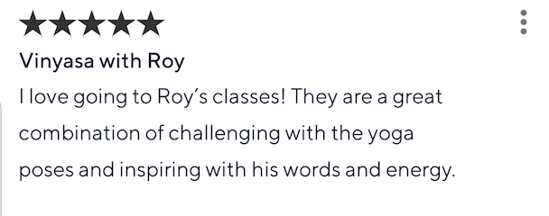 Class Pass review for Roy Gan