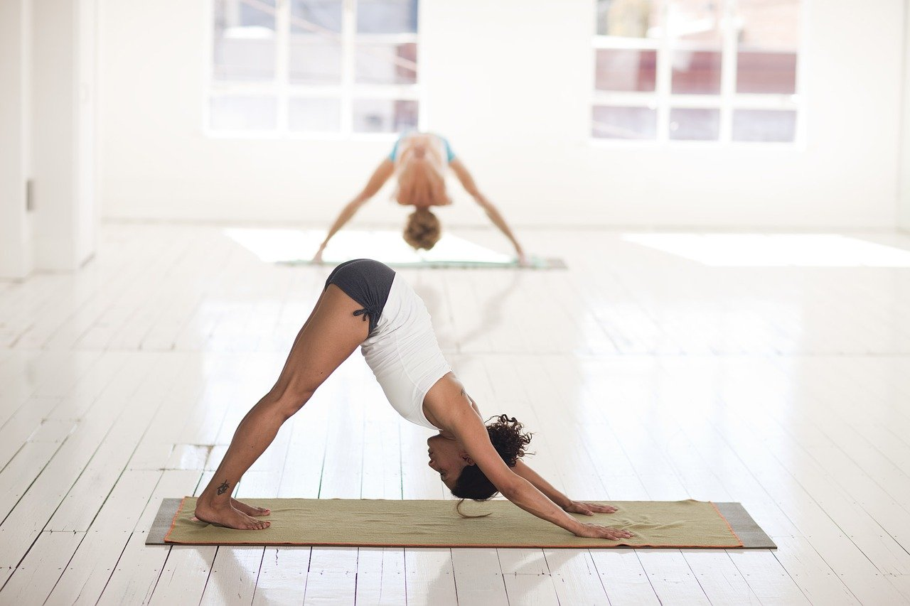 yoga, stretching, pose